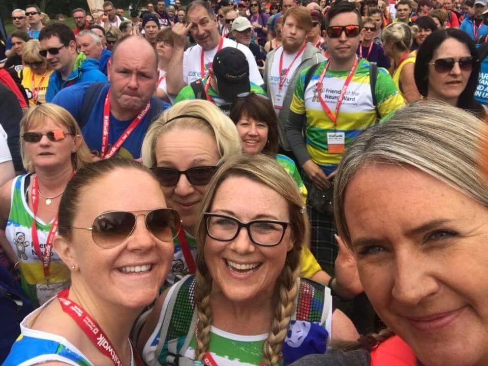 The Tartan Teddies Kilt walk team did it!